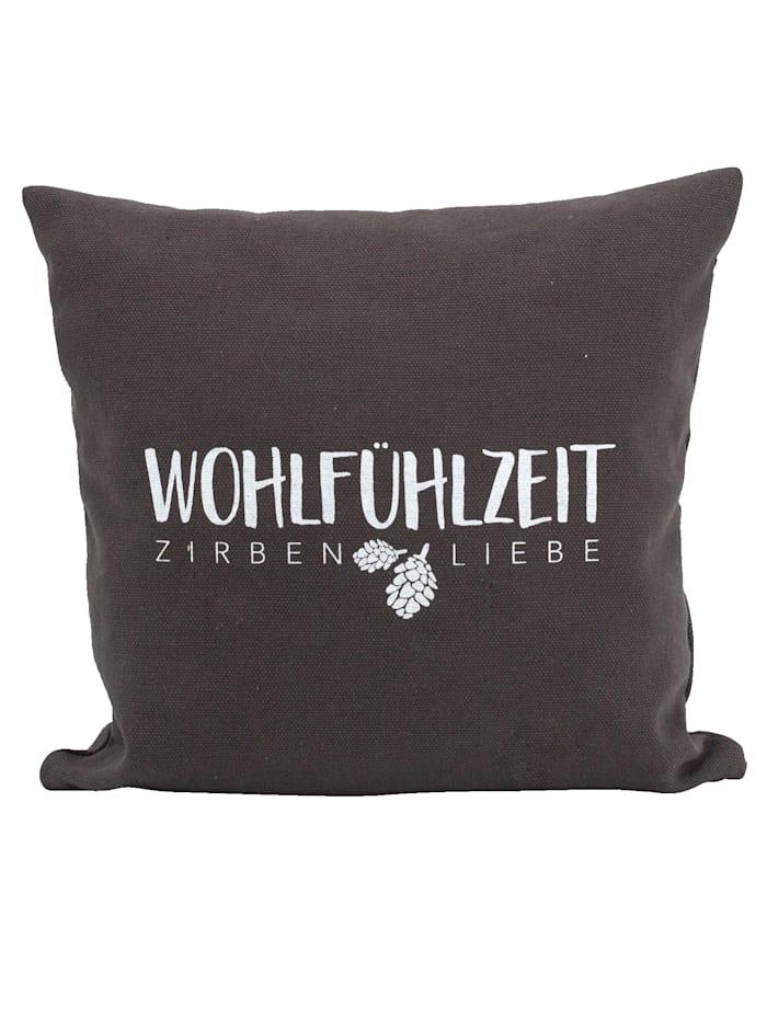 Herbalind Wohlfühl-Zirbenkissen, anthrazit