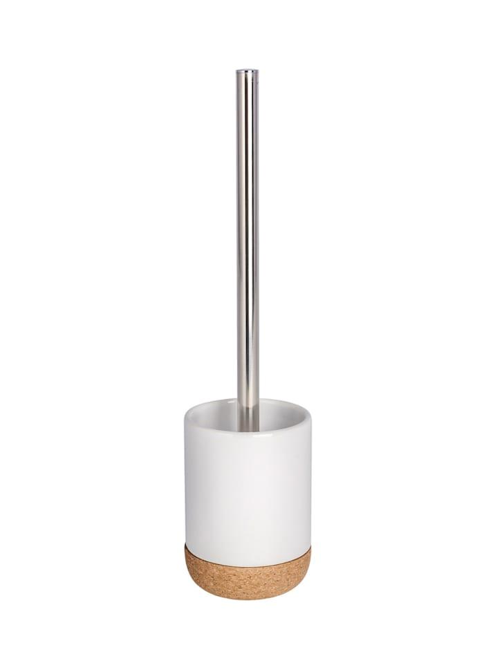 Wenko WC-Garnitur Corc White Keramik, Weiß, Braun