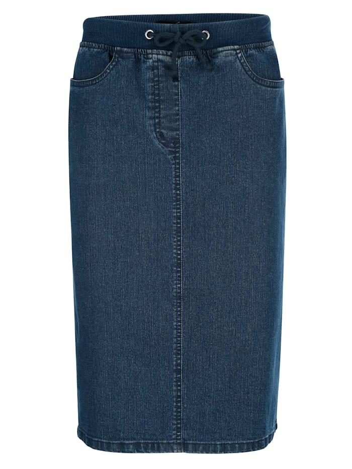 Jeansrock in gerader Form