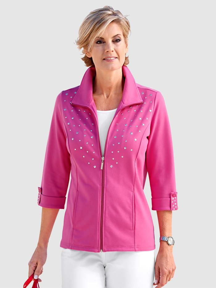 Paola Sweatvest met steekzakken, Pink