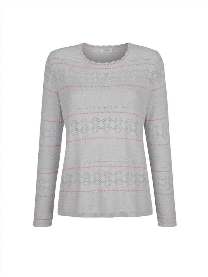 Pullover mit Kontraststrickerei