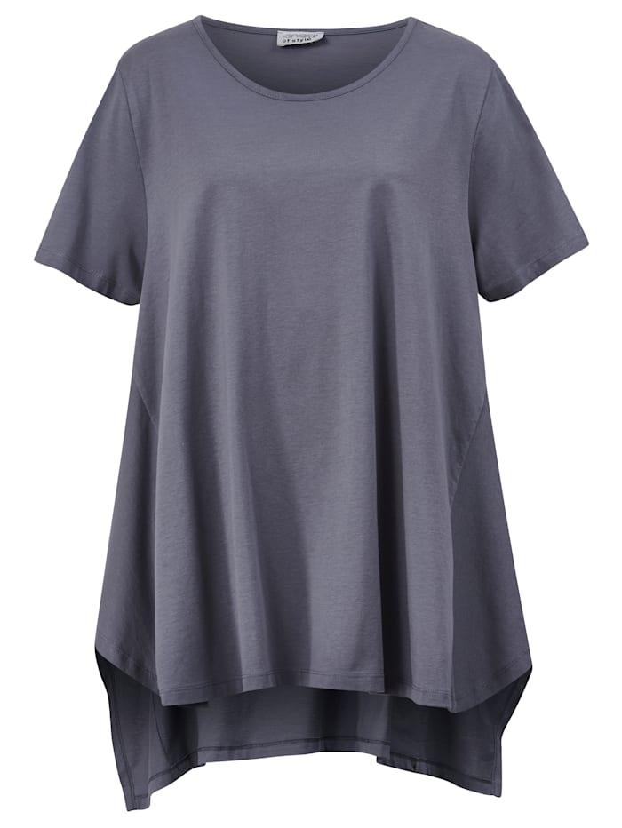 Shirt mit kaschierendem Zipfelsaum