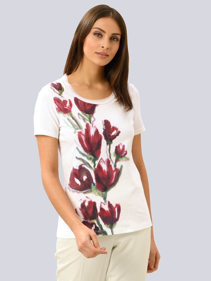 Alba Moda Shirt met exclusief Alba Moda dessin, Wit/Rood