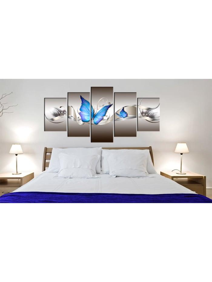 Wandbild Blaue Schmetterlinge