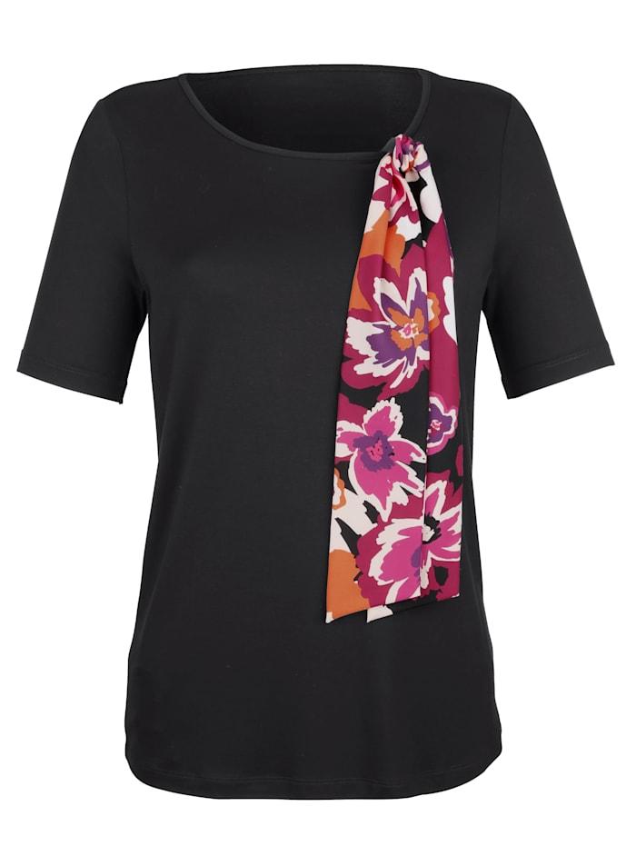 Shirt met afneembare sjaalkraag