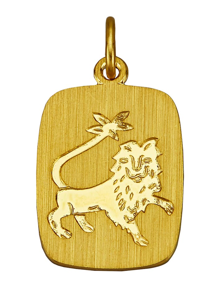 Sternzeichen-Anhänger, Löwe in Gelbgold 333, Gelbgoldfarben