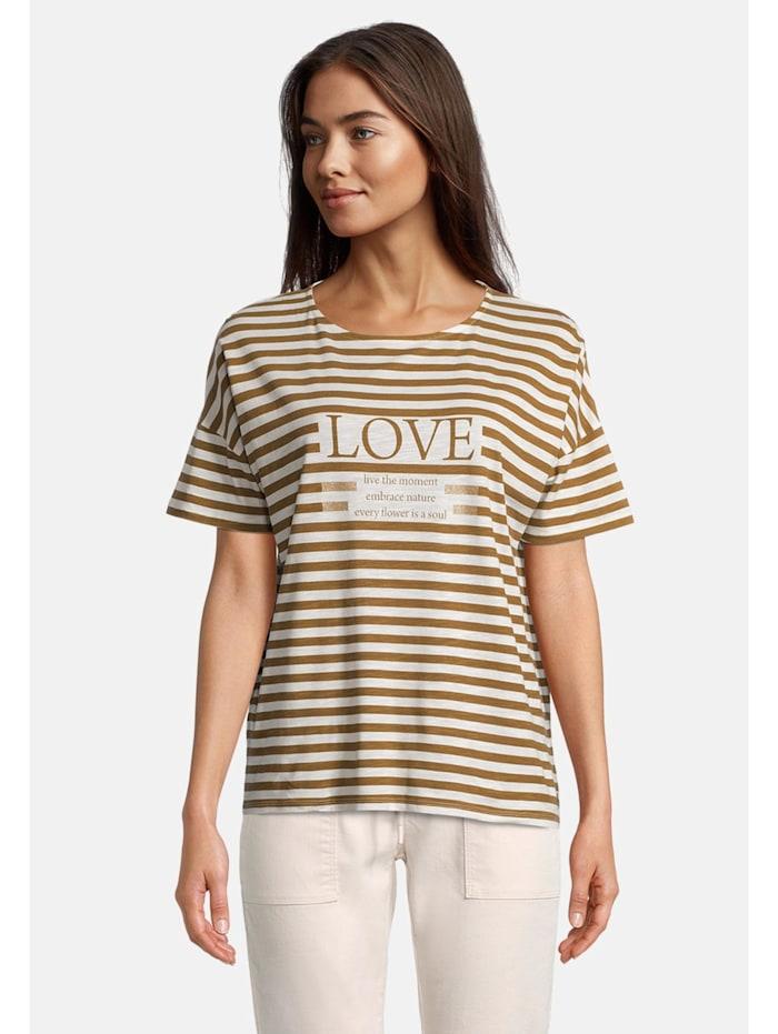 Betty & Co Streifenshirt kurzarm, Weiß