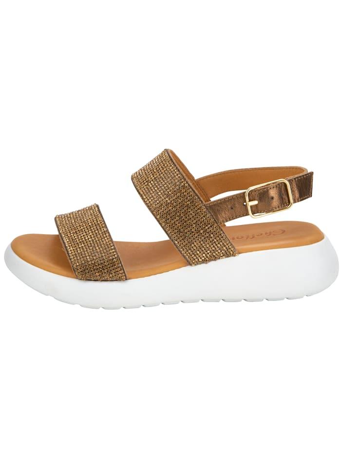 Sandaaltje met fonkelende steentjes