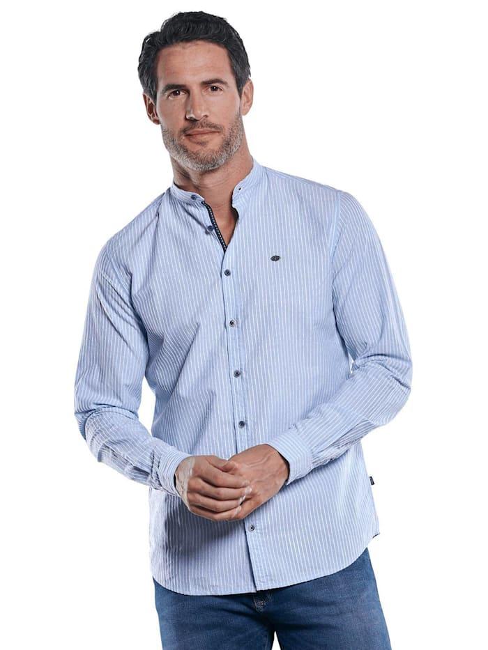 Engbers Dezent gestreiftes Hemd mit Stehkragen, Hellblau
