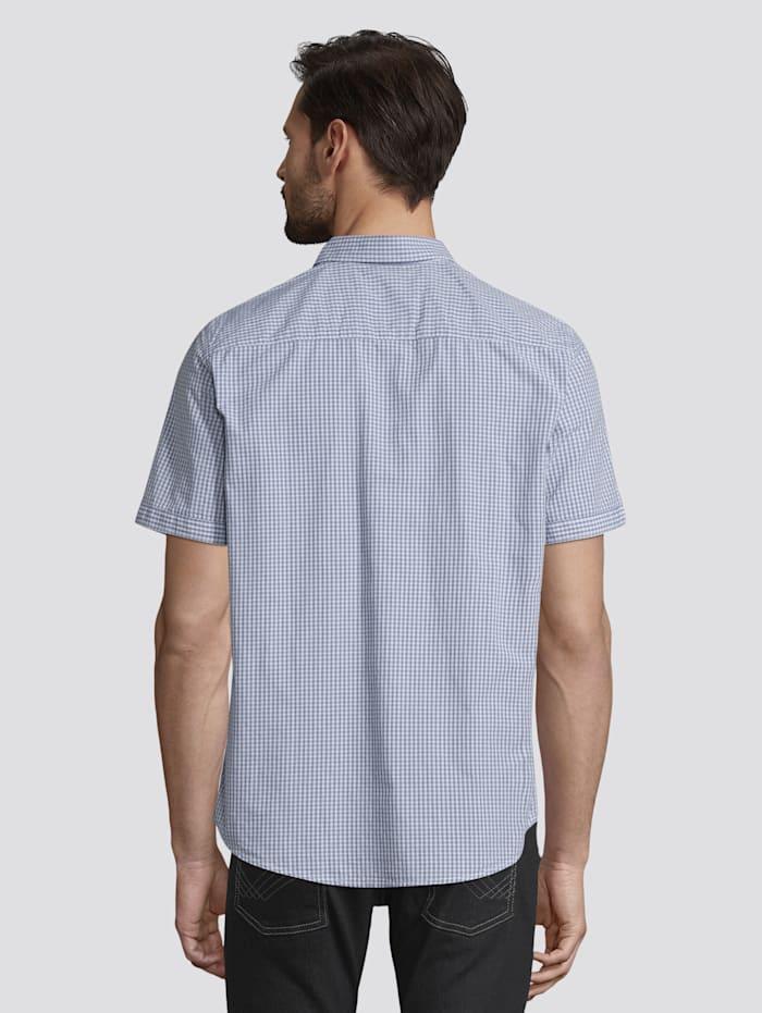 Kariertes Kurzarm-Hemd mit Brusttasche
