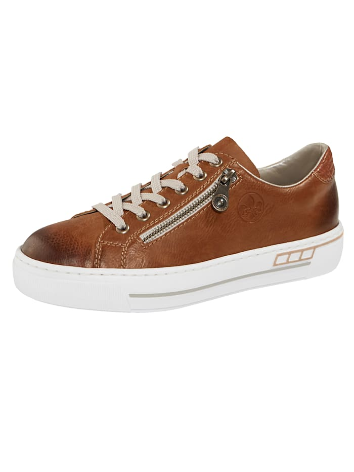 Rieker Veterschoen in used look, Cognac
