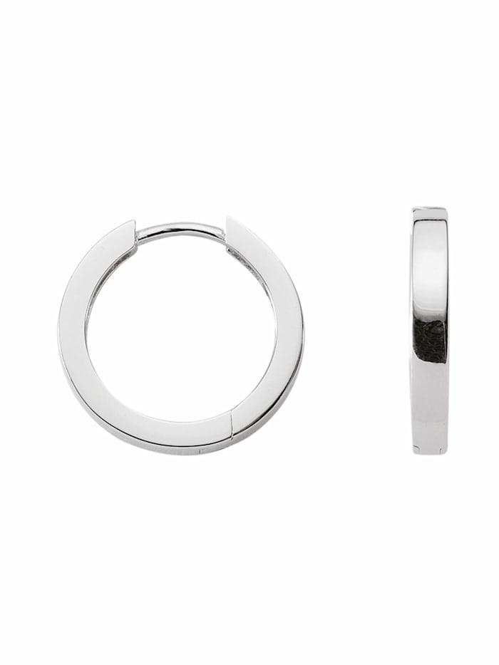 1001 Diamonds 1001 Diamonds Damen Silberschmuck 925 Silber Ohrringe / Creolen Ø 13,5 mm, silber