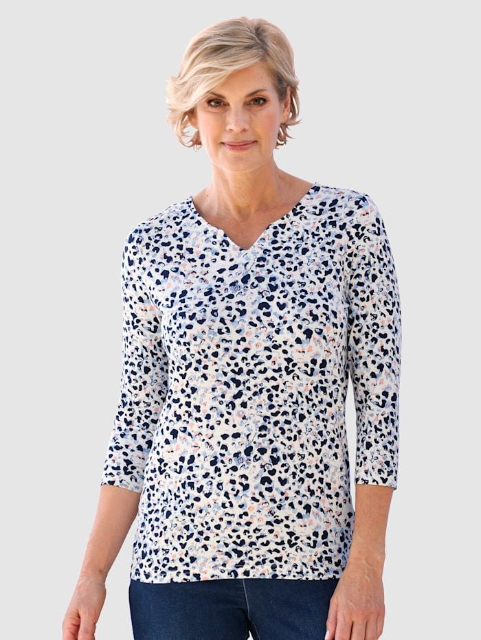 Paola Shirt mit schönem Druck, Weiß