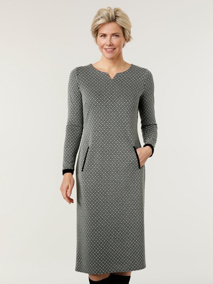 Jerseykleid aus Jacquard