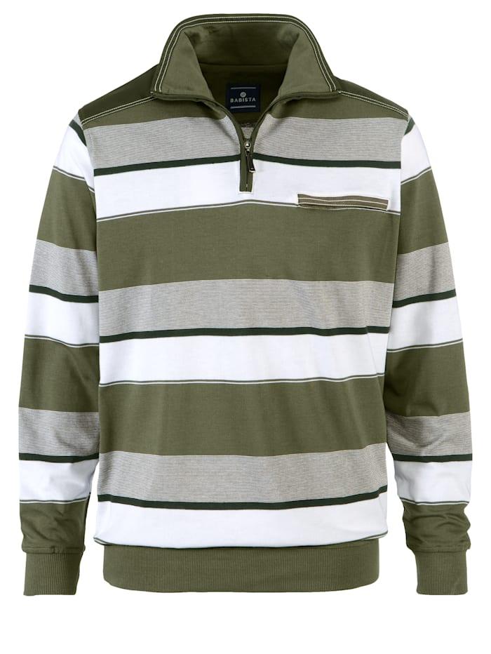 Sweatshirt mit Kontrastpaspelierung
