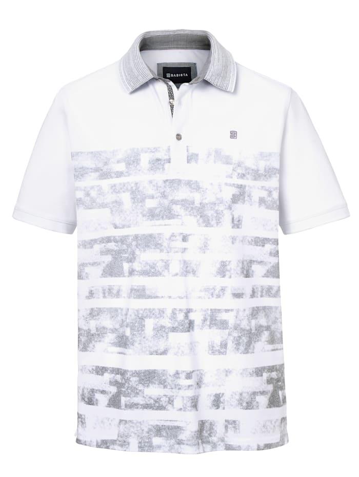 Poloshirt mit grafischem Druckmuster