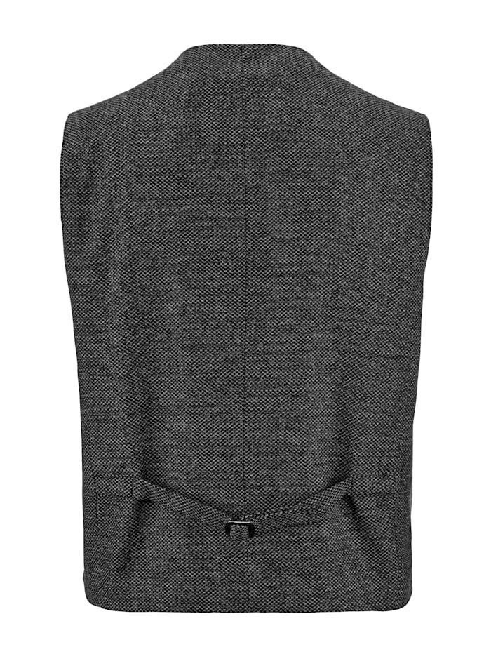 Veste sans manches en laine mélangée