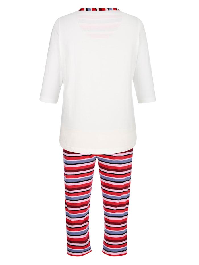 Pyjama met gestreepte broek
