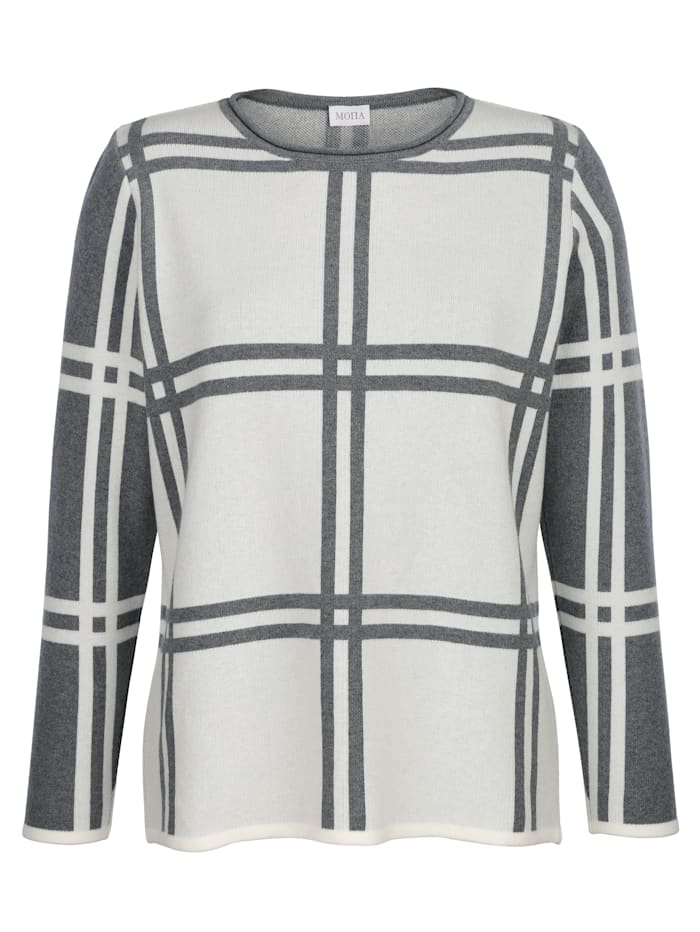Jumper in a chic check pattern
