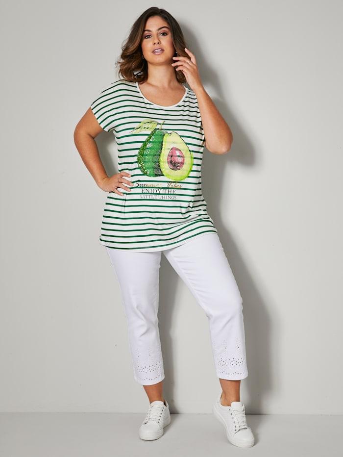 Shirt mit Avocado und Schriftzug Print