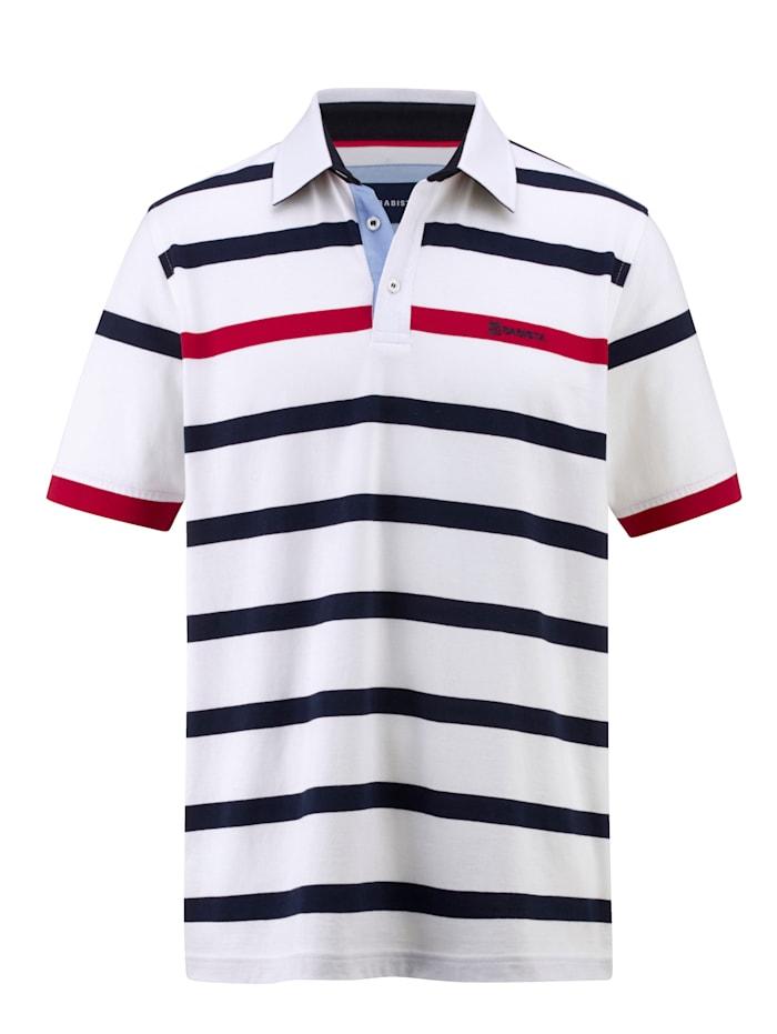 BABISTA Poloshirt mit Hemdkragen, Weiß/Marineblau