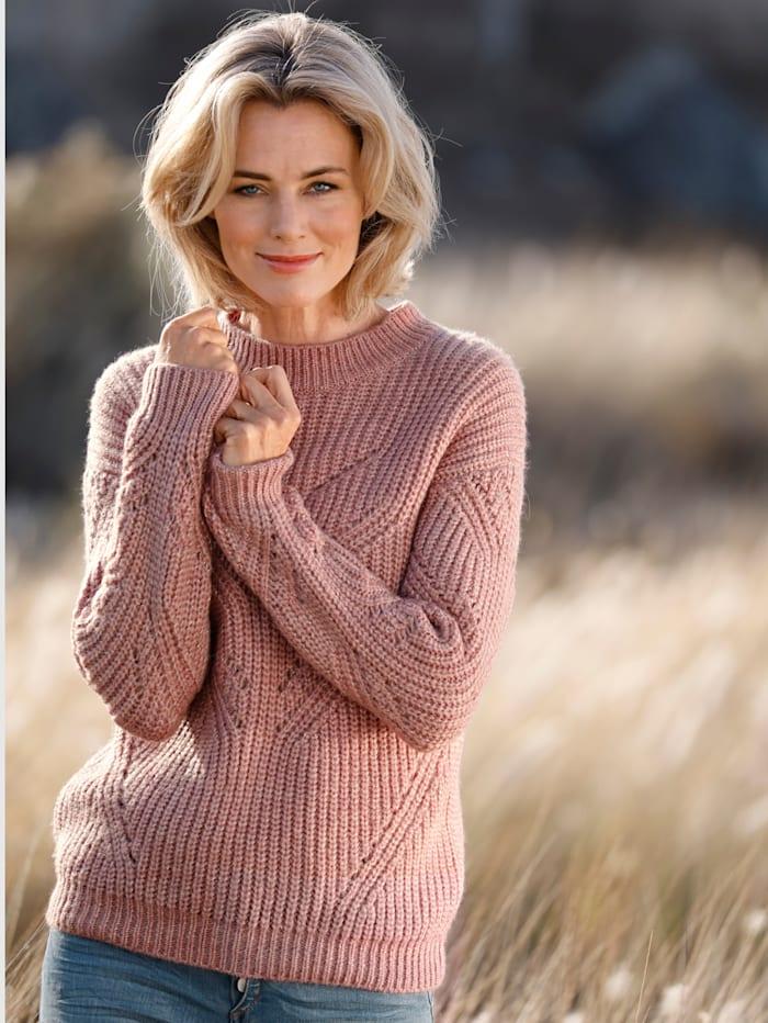 Dress In Pullover mit Glitzergarn, Rosé