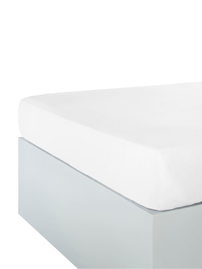 Webschatz Lot de 2 draps-housses, blanc