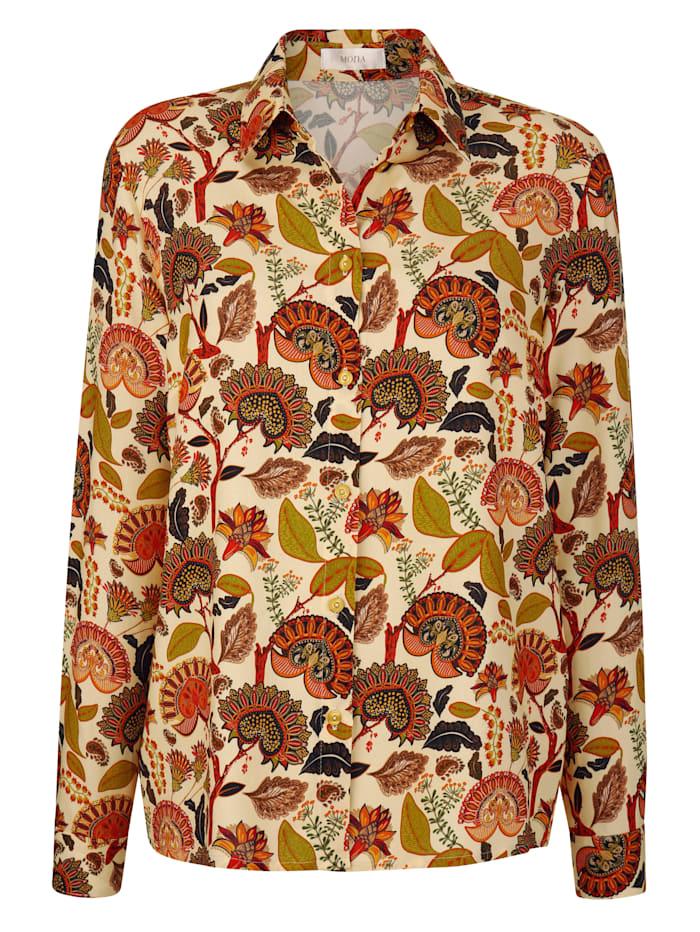 Bluse mit modernem Paisleydessin