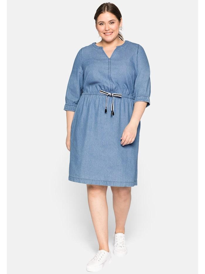 Sheego Sheego Jeanskleid mit Taschen, light blue Denim