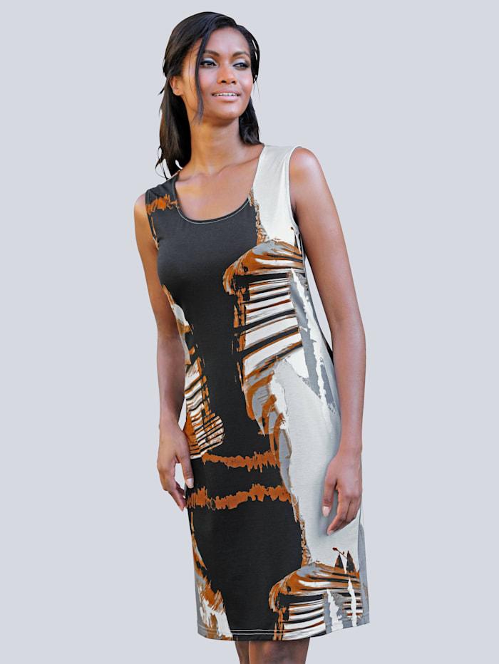 Alba Moda Strandkleid in Etuiform, schwarz-braun