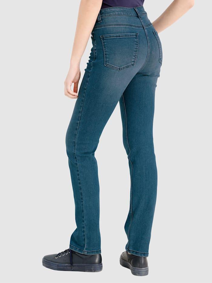 Jeans Laura Slim med tvättade effekter