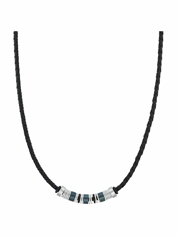 s.Oliver Halsband für Herren, Edelstahl IP Schwarz | Beads, Bicolor