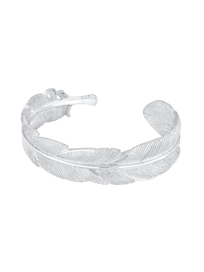 Armband Armreif Bangle Feder Boho 925 Sterling Silber
