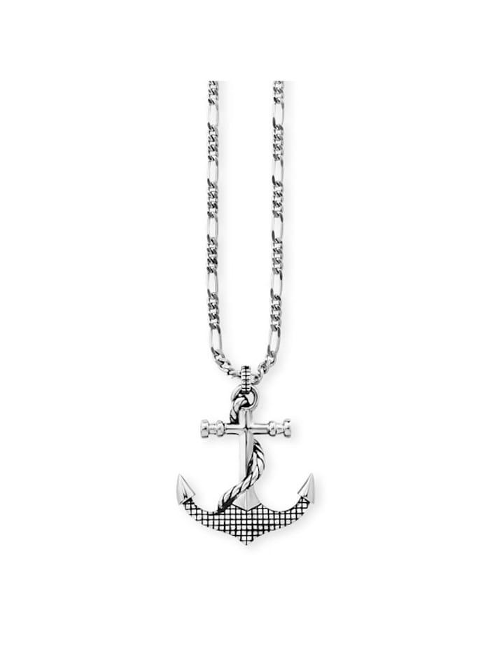 CAI Anhänger mit Kette 925/- Sterling Silber ohne Stein 55cm Glänzend, Silbergrau