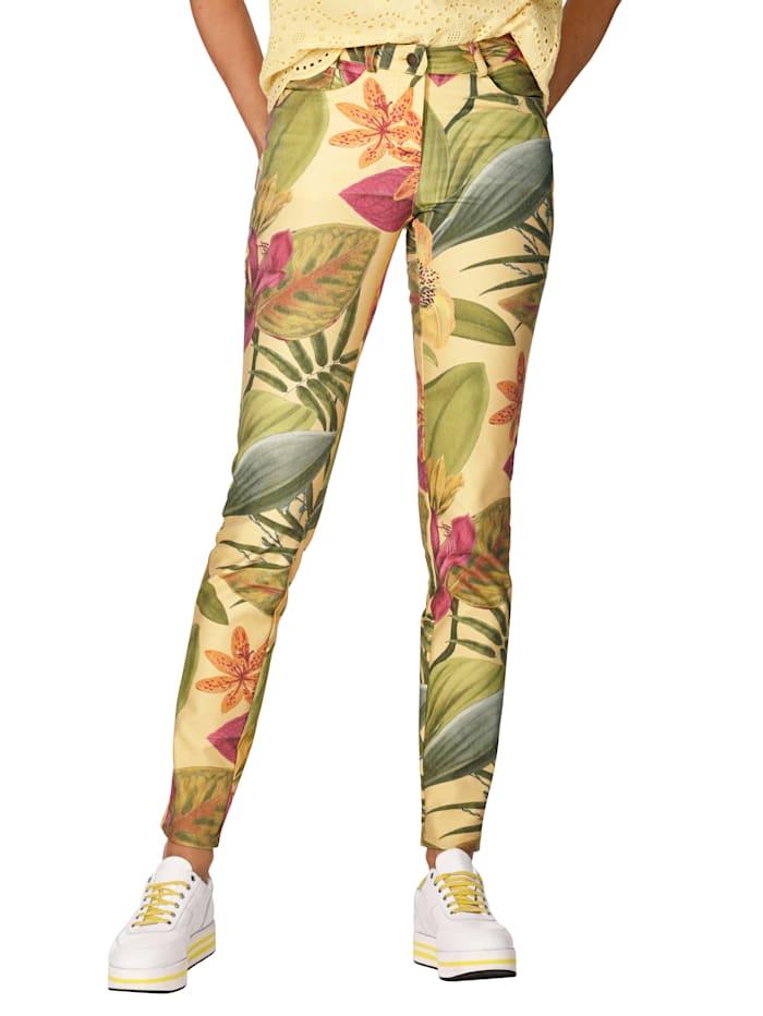 Jeans met bloemendessin