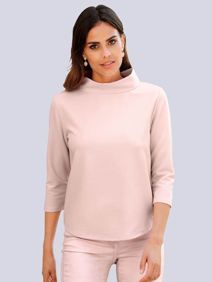 Alba Moda Shirt met wijde opstaande kraag, Roze