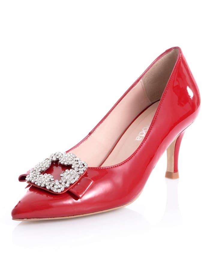 Alba Moda Pumps aus Lackleder, Rot
