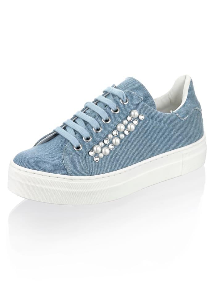 Alba Moda Sneaker van textiel, Blauw