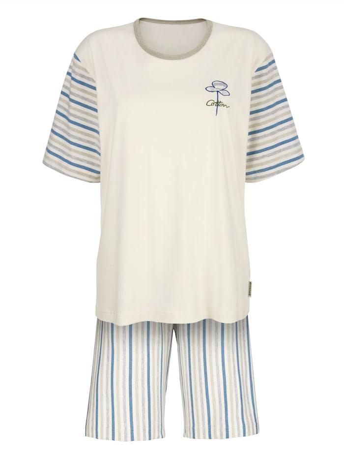 Götting Pyjashort en coton naturellement teinté, Beige