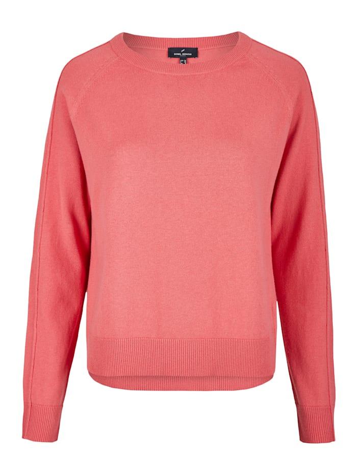 Daniel Hechter Moderner Pullover mit Ziernähten, peach