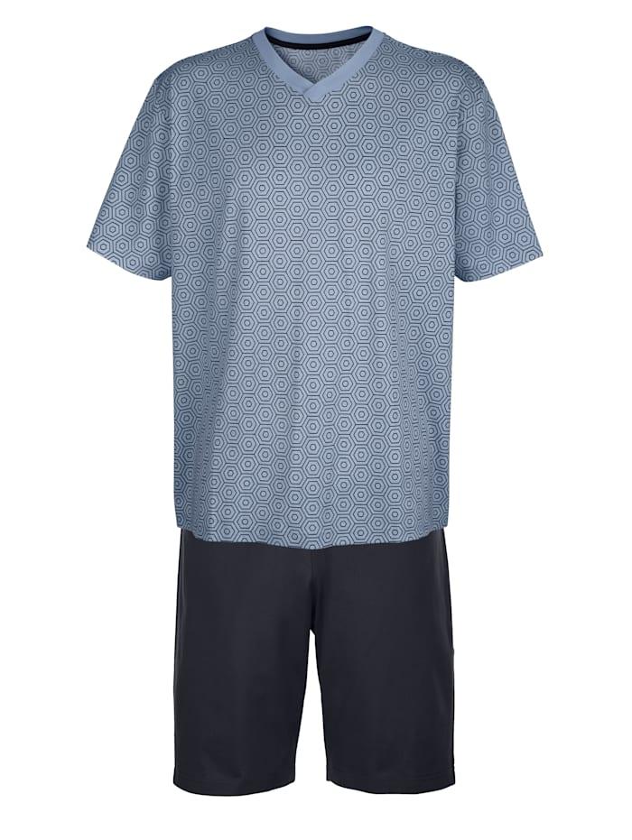 BABISTA Pyjamas av merceriserad bomull, Marinblå/Ljusblå