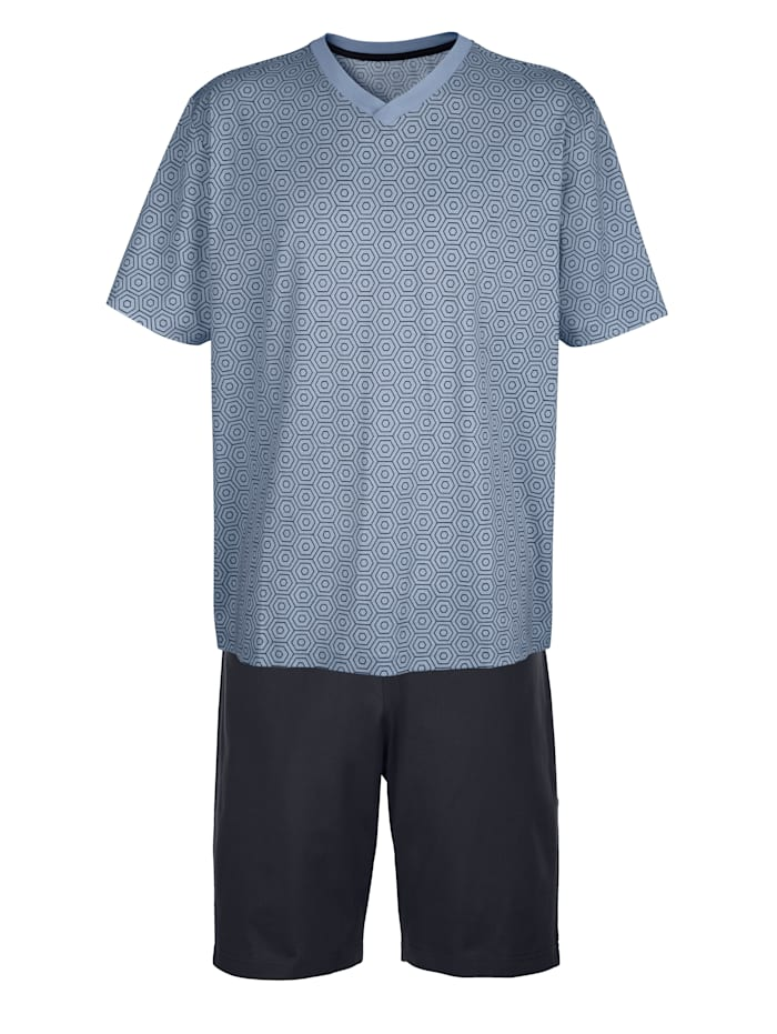 BABISTA Pyjashort en coton mercerisé, Marine/Bleu ciel