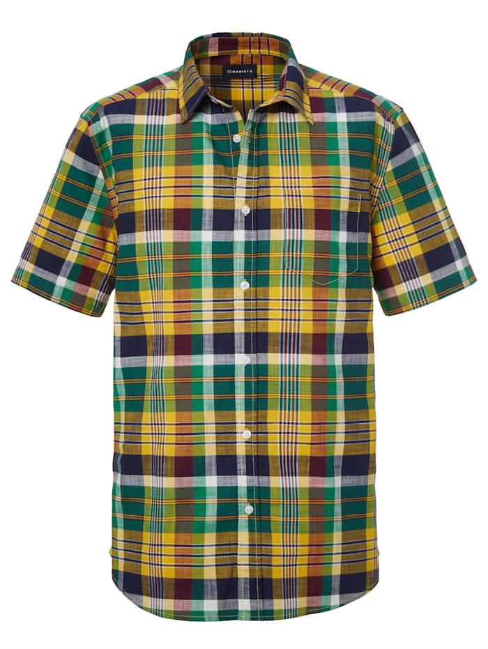 BABISTA Košeľa z čistej bavlny, Zelená/Žltá