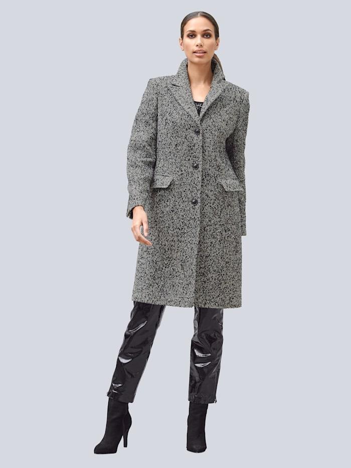 Alba Moda Mantel in schöner Salz&Pfeffer Qualität, Schwarz/Off-white