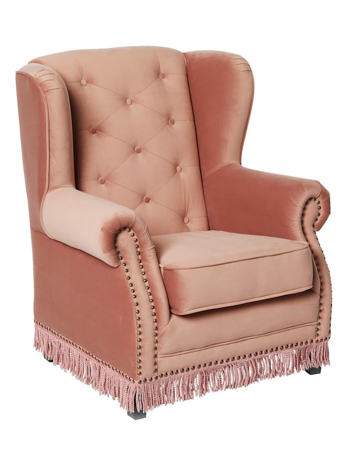 IMPRESSIONEN living Sessel mit Samtbezug, rosa
