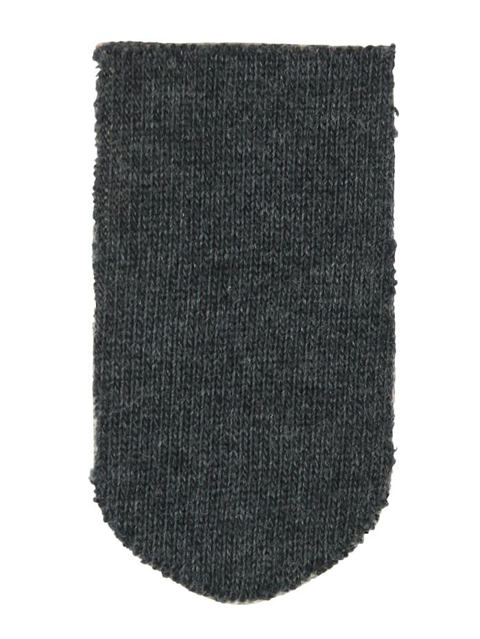 Esda Unisex ponožky s extra širokým lýtkom a pásovkou, Šedá