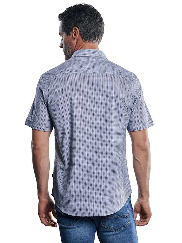 Kurzarmhemd mit Stretch-Anteil und dezenten Kontrastdetails