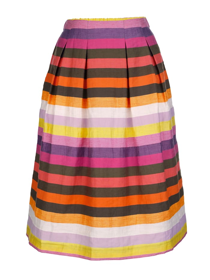 AMY VERMONT Rock mit Streifenmuster, Multicolor