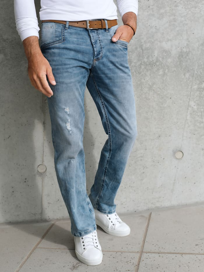 BABISTA Jeans met modieuze details, Blauw