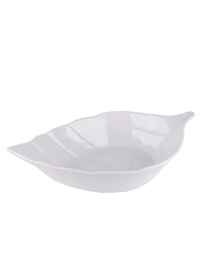Neuetischkultur Servierschale Blatt, Weiß